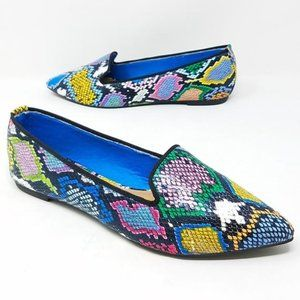 Shoes - New! Multi Snake Pointy Toe Flats